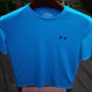 Medium Under Armour Shirt MD Blue 100% Poly